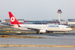 Boeing 737-800 Turkish Airlines Zdjęcia Stock