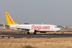 Boeing 737-800 of the turkish Pegasus airline Royalty Free Stock Photography