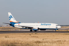 Boeing 737-800 of the turkish SunExpress airline Stock Image