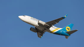 Boeing A319 Ukraine International Airlines Stock Photography