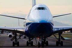 Boeing unido 747 en el AEROPUERTO de NARITA imagen de archivo