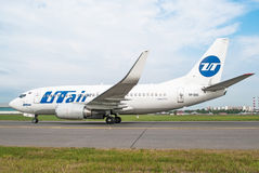 Boeing 737 Utair, airport Vnukovo, Russia Moscow July 2013. Boeing 737 Utair, airport Vnukovo, Russia Moscow July 2013 Stock Images