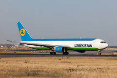 Boeing 767-300 of the Uzbekistan Airways Stock Image