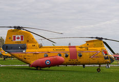 Boeing Vertol (Labrador) helicopter aka CH113. Displayed at National Air Force Museum of Canada in Trenton, Ontario. It was used for army transport between 1965 Royalty Free Stock Photo