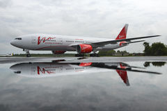 Boeing 757 Vim airlines in the parking lot, Stock Photos