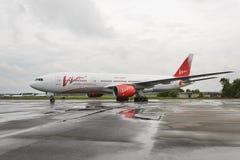 Boeing 757 Vimflygbolag i parkeringsplatsen, Royaltyfri Bild