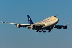 Boeing 747 vliegtuig royalty-vrije stock afbeeldingen