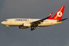 Boeing 737 Vliegtuig stock foto