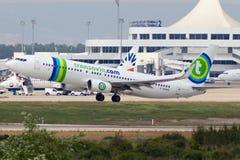 Boeing 737 Vliegtuig Stock Afbeelding
