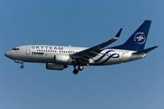 Boeing 737 Vliegtuig stock afbeeldingen