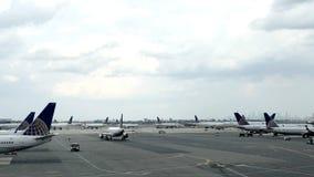 Boeing-Vliegtuig bij Poort in Newark Liberty International Airport royalty-vrije stock afbeelding