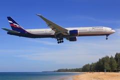 Boeing 777 von Aeroflot Stockbild