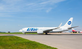 Boeing 737-800 VP-BQS Utair Aviation standing at Vnukovo international airport Royalty Free Stock Photography