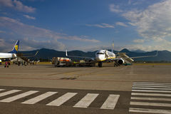 Boeings 737 de Ryanair Photos libres de droits