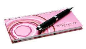 Boek 2008 van de agenda Stock Afbeeldingen