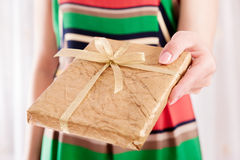 Boek als aanwezige Kerstmis Royalty-vrije Stock Foto