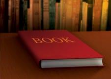 Boek in bibliotheek stock illustratie