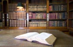 Boek in bibliotheek Royalty-vrije Stock Foto