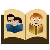 Boek binnen een boek Royalty-vrije Illustratie