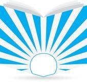 Boek embleem Stock Illustratie