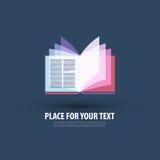 Boek Embleem, pictogram, teken, embleem, malplaatje royalty-vrije illustratie