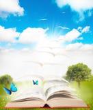 Boek en aard Royalty-vrije Stock Afbeelding