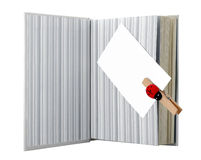 Boek en adreskaartje Stock Foto