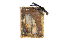 Boek en glazen Stock Fotografie