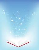 Boek en sterren Royalty-vrije Stock Afbeeldingen