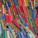 Boek grote gekleurde stapel stock fotografie