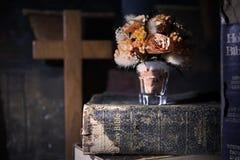 Boek, Lezing, de Heilige Bijbel Stock Foto