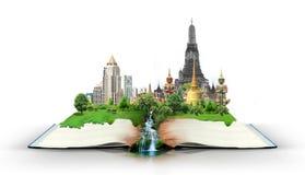 Boek met de reis van Thailand Bangkok Stock Foto's