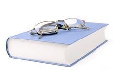 Boek met glazen Royalty-vrije Stock Afbeelding