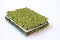 Boek met Groene Dekking Stock Foto