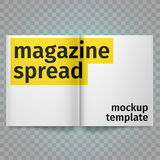 Boek met Lege Witte Pagina's wordt uitgespreid die Vector leeg uitgespreid tijdschrift Geïsoleerd Witboek A4 Open brochure Stock Illustratie