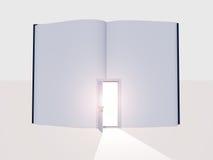Boek met open deur royalty-vrije illustratie