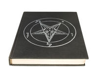 Boek met pentagram Stock Foto