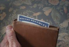Boek met sociale zekerheidkaart Stock Foto's