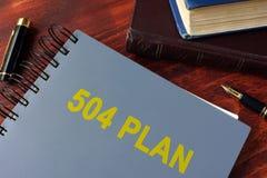 Boek met titel 504 plan royalty-vrije stock foto's