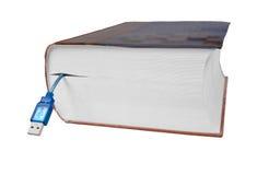 Boek met usbaansluting kabel Royalty-vrije Stock Afbeelding