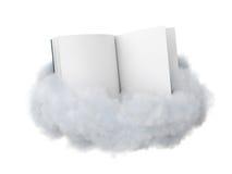 Boek op een wolk stock illustratie