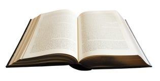 Boek op wit wordt geïsoleerd dat Stock Fotografie