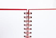boek op witte achtergrond. Stock Foto