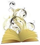 Boek open met bloemen royalty-vrije illustratie