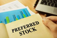 Boek over aangewezen voorraad Handelconcept royalty-vrije stock fotografie