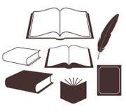 Boek. Reeks vector illustratie