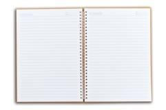 Boek van de nota twee ziet open onder ogen Royalty-vrije Stock Foto