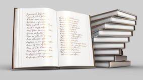 Boek van gedichten royalty-vrije illustratie