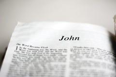 Boek van John Royalty-vrije Stock Afbeelding