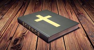 Boek van wetenschap en godsdienstconcept Royalty-vrije Stock Fotografie